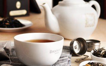 A cup of Dammann Fréres tea at Garden Café Russian Dacha