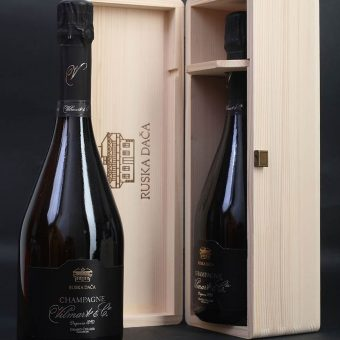 Champagne Russian Dacha in a wooden gift box