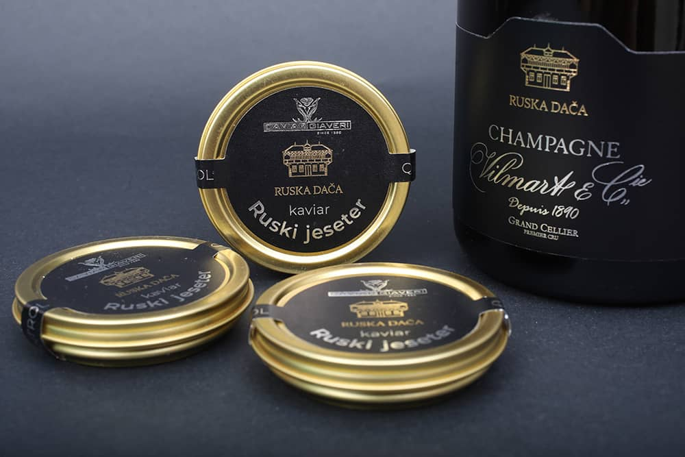Russian Dacha caviar and Champagne Russian Dacha