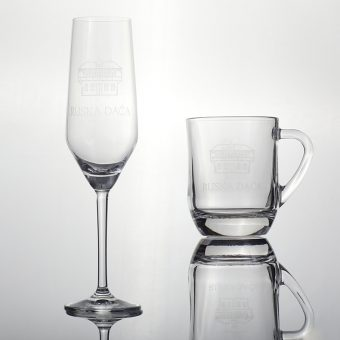 Russian Dacha champagne glass and glass with a handle