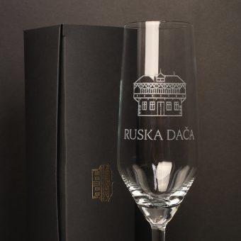 Russian Dacha champagne glass